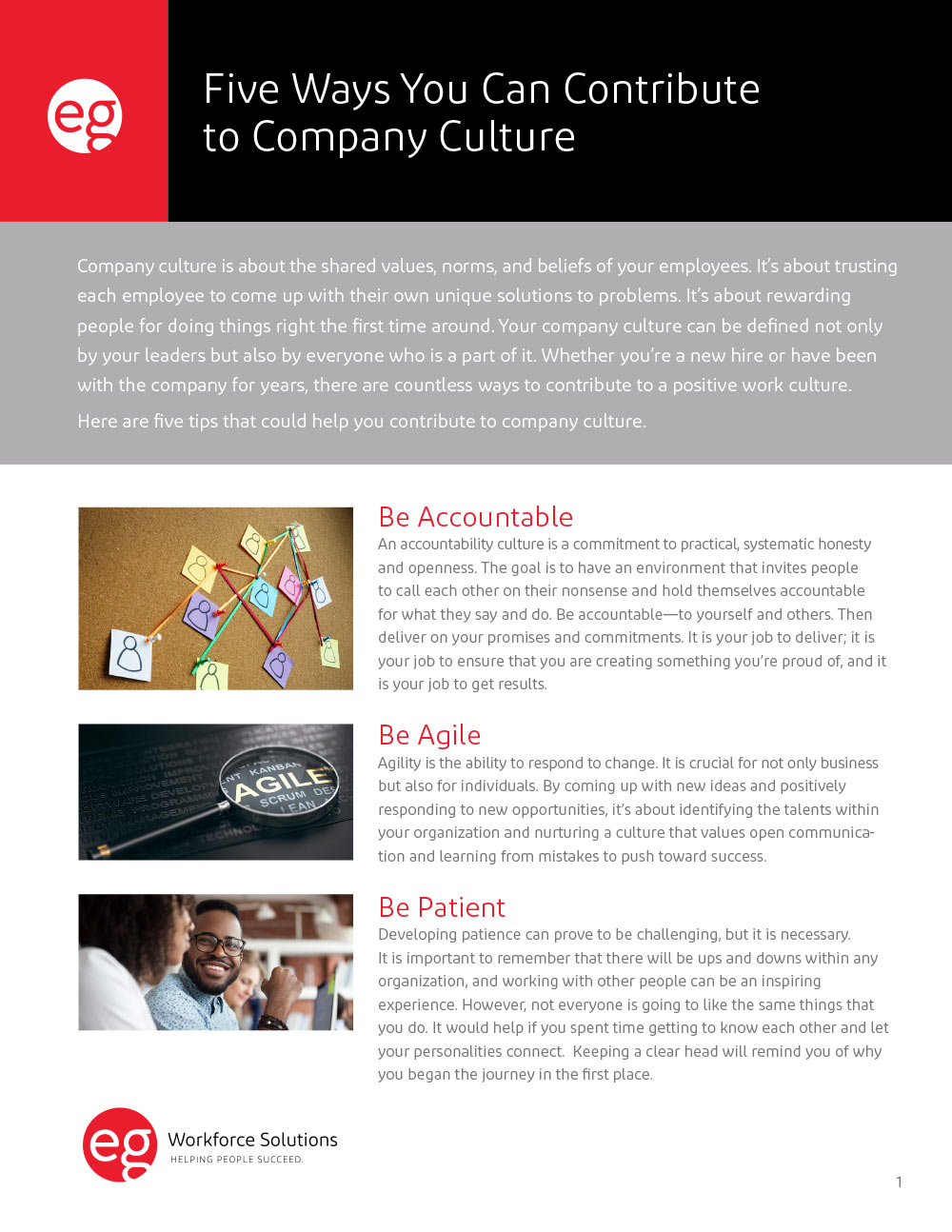 Five Ways You Can Contribute to Company Culture
